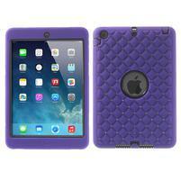 Hybridní kamínkové pouzdro pro iPad mini- fialové