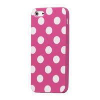 Gelové PUNTÍK pouzdro pro iPhone 5, 5s- růžový