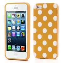 Gelové PUNTÍK pouzdro pro iPhone 5, 5s- oranžové