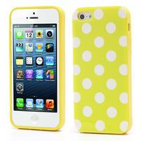 Gelové PUNTÍK pouzdro pro iPhone 5, 5s- žluté