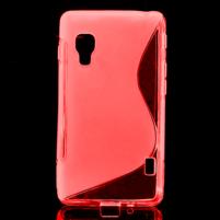 Gelové S-line  pouzdro pro LG Optimus L5 II E460- červené