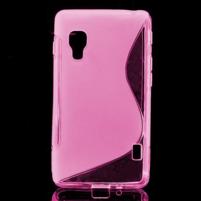 Gelové S-line  pouzdro pro LG Optimus L5 II E460- růžové