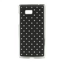 Drahokamové pouzdro pro HTC Desire 600- černé