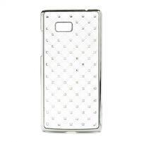 Drahokamové pouzdro pro HTC Desire 600- bílé