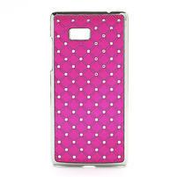 Drahokamové pouzdro pro HTC Desire 600- růžové