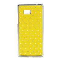 Drahokamové pouzdro pro HTC Desire 600 -žluté