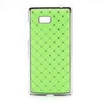 Drahokamové pouzdro pro HTC Desire 600- zelené