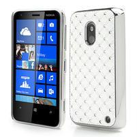 Drahokamové pouzdro na Nokia Lumia 620- bílé