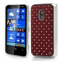 Drahokamové pouzdro na Nokia Lumia 620- červené