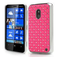 Drahokamové pouzdro na Nokia Lumia 620- světlerůžové