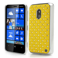 Drahokamové pouzdro na Nokia Lumia 620- žluté