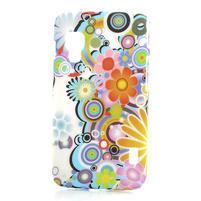 Plastové pouzdro pro LG Optimus L5 Dual E455- krásné květiny