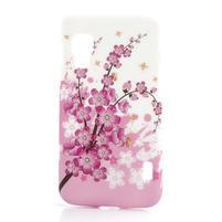 Plastové pouzdro pro LG Optimus L5 Dual E455- kvetoucí větvička