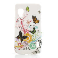 Plastové pouzdro pro LG Optimus L5 Dual E455- živé motýli