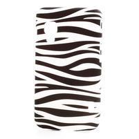 Plastové pouzdro pro LG Optimus L5 Dual E455- zebra