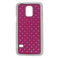 Drahokamové pouzdro na Samsung Galaxy S5 mini G-800- růžové