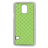 Drahokamové pouzdro na Samsung Galaxy S5 mini G-800- zelené