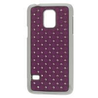 Drahokamové pouzdro na Samsung Galaxy S5 mini G-800- fialové