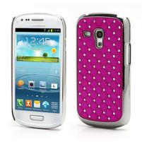 Drahokamové pouzdro pro Samsung Galaxy S3 mini i8190- růžové