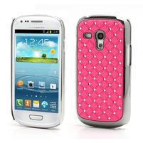 Drahokamové pouzdro pro Samsung Galaxy S3 mini i8190- světle-růžové
