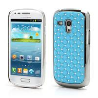 Drahokamové pouzdro pro Samsung Galaxy S3 mini i8190- světle-modré