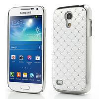 Drahokamové pouzdro pro Samsung Galaxy S4 mini i9190- bílé