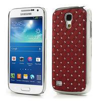 Drahokamové pouzdro pro Samsung Galaxy S4 mini i9190- červené