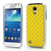 Drahokamové pouzdro pro Samsung Galaxy S4 mini i9190- žluté