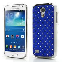 Drahokamové pouzdro pro Samsung Galaxy S4 mini i9190- modré