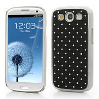 Drahokamové pouzdro pro Samsung Galaxy S3 i9300 - černé