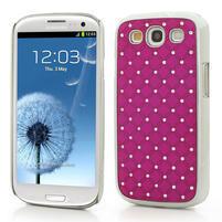 Drahokamové pouzdro pro Samsung Galaxy S3 i9300 - řůžové