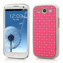 Drahokamové pouzdro pro Samsung Galaxy S3 i9300- světle-růžové