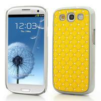 Drahokamové pouzdro pro Samsung Galaxy S3 i9300 - žlutá