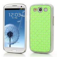 Drahokamové pouzdro pro Samsung Galaxy S3 i9300 - zelené