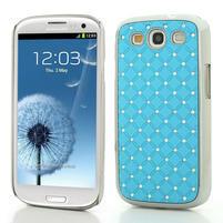 Drahokamové pouzdro pro Samsung Galaxy S3 i9300 - světlě-modré