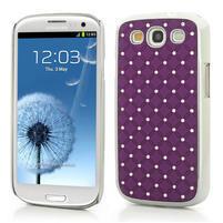 Drahokamové pouzdro pro Samsung Galaxy S3 i9300 - fialové