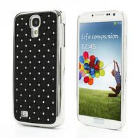 Drahokamové pouzdro pro Samsung Galaxy S4 i9500- černé