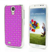 Drahokamové pouzdro pro Samsung Galaxy S4 i9500- růžové
