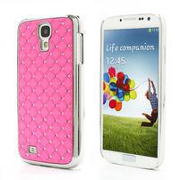Drahokamové pouzdro pro Samsung Galaxy S4 i9500- světle-růžové