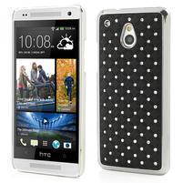 Drahokamové pouzdro pro HTC one Mini M4- černé