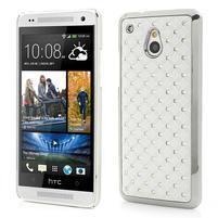 Drahokamové pouzdro pro HTC one Mini M4- bílé