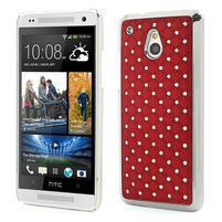 Drahokamové pouzdro pro HTC one Mini M4- červené