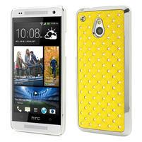 Drahokamové pouzdro pro HTC one Mini M4- žluté