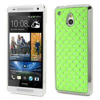 Drahokamové pouzdro pro HTC one Mini M4- zelené