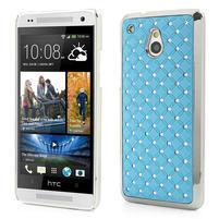Drahokamové pouzdro pro HTC one Mini M4- světlemodré