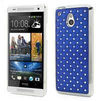 Drahokamové pouzdro pro HTC one Mini M4- modré