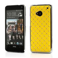 Drahokamové pouzdro pro HTC one M7- žluté