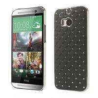 Drahokamové pouzdro pro HTC one M8- černé