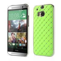 Drahokamové pouzdro pro HTC one M8- zelené