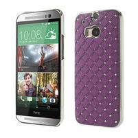 Drahokamové pouzdro pro HTC one M8- fialové
